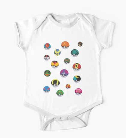 Pokeballs rain One Piece - Short Sleeve