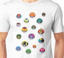 Pokeballs rain Unisex T-Shirt