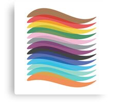 Coloured Lines Canvas Print