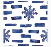 Beautiful watercolor snowflakes seamless ornament for christmas winter design Kids Tee