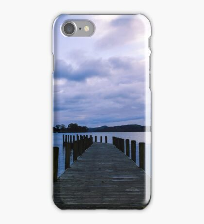 Lake District jetty view  iPhone Case/Skin