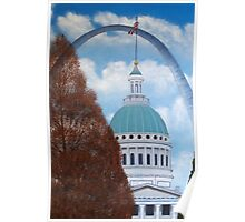 St. Louis Arch by day Poster
