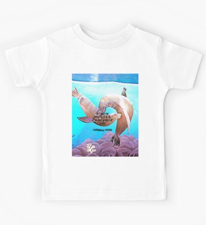 Motivational Inspirational Love Quote With Penguins Painting  Kids Tee