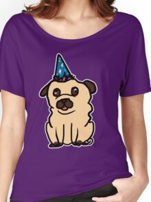 Dogs with Party Hats - Pug Women's Relaxed Fit T-Shirt