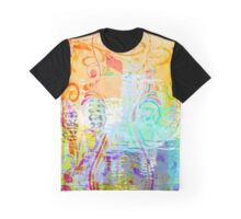 Pastel Flourishes Abstract Graphic T-Shirt
