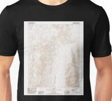 USGS TOPO Map California CA Saline Peak 101956 1987 24000 geo Unisex T-Shirt