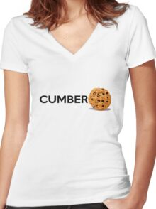 Cumbercookie Women's Fitted V-Neck T-Shirt