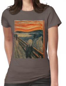 The Scream  Womens Fitted T-Shirt