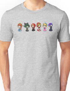 Little Scyllas - All in a Row Unisex T-Shirt
