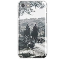 Showing a group of Horse riders and hounds iPhone Case/Skin