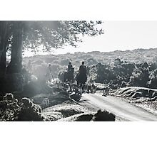Showing a group of Horse riders and hounds Photographic Print