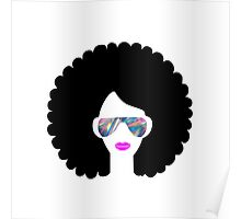 hologram afro girl  Poster
