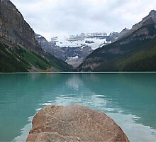 Still times at Lake Louise  by Funkylikeabee