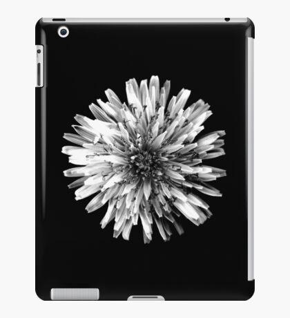 White Dandelion on Black iPad Case/Skin