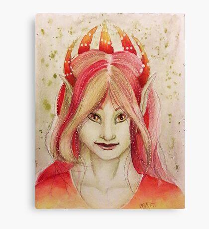 Red elf Canvas Print