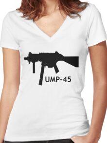 UMP-45 Women's Fitted V-Neck T-Shirt