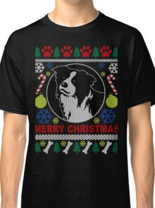 Love Border Collie Dog Breed Ugly Christmas Sweater T-Shirt Classic T-Shirt