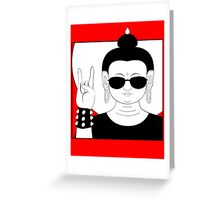 The Heavy Metal Buddha Greeting Card