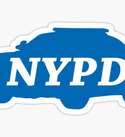 NYPD police logo blue car Sticker