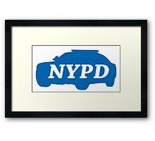 NYPD police logo blue car Framed Print