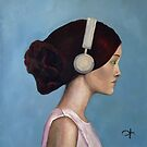 Girl in head phones by Jenny Hambleton