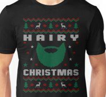 Hairy Beard Ugly Christmas Sweater, Funny Men Women T-Shirt Unisex T-Shirt
