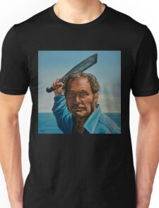 Robert Shaw in Jaws Painting Unisex T-Shirt