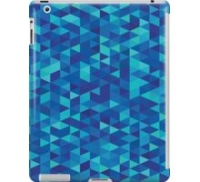 Original designers fashion : Triangles deep blue edition iPad Case/Skin
