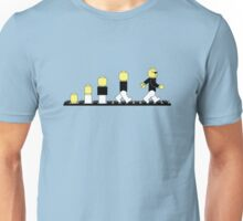 Evolution of lego man Unisex T-Shirt
