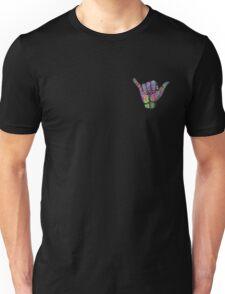 Rainbow Smoke Hang Loose Shaka Sign Unisex T-Shirt