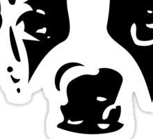 Boston Terrier Black and White What? - For Dog Lovers Puppy Sticker