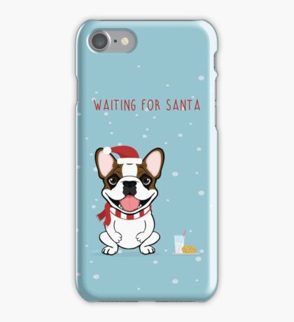 Frenchie Waiting for Santa  iPhone Case/Skin