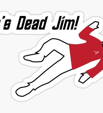 Star Trek He's Dead Jim Sticker