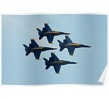 Blue Angels Diamond Formation  Poster