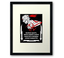 Badass quote under a picture of Vegeta Framed Print
