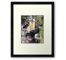 Falls of Bruar: Natural Arch Framed Print