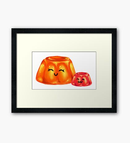 Jelly Gum Drop Mom and Baby Framed Print