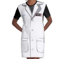 Umbrella Corporation Lab Coat Graphic T-Shirt Dress