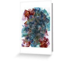 Layered Blue, Green and Red Monoprint Greeting Card