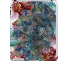 Layered Blue, Green and Red Monoprint iPad Case/Skin
