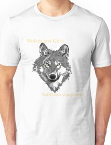 Wolves and Girls Unisex T-Shirt
