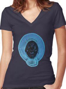 """""""AWAKEN, MY LOVE!"""" Women's Fitted V-Neck T-Shirt"""