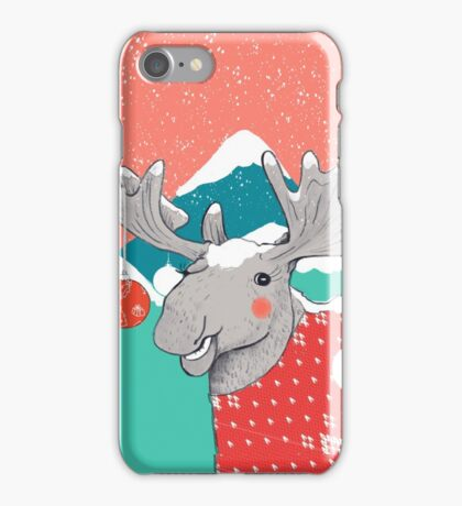Christmoose, Winter Moose iPhone Case/Skin