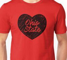 I Love Ohio State University - I Heart Buckeyes OSU Unisex T-Shirt