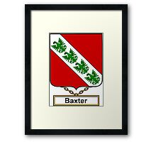 Baxter Coat of Arms (English) Framed Print