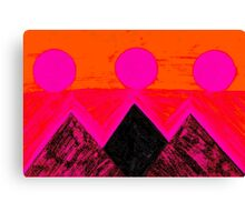 Pyramids Of Other Worlds In Pink and Orange Canvas Print
