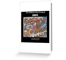 2008 New Orleans Jazz Fest Poster Greeting Card