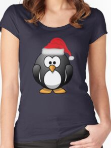 Christmas Penguin Shirt Women's Fitted Scoop T-Shirt