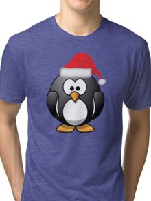 Christmas Penguin Shirt Tri-blend T-Shirt