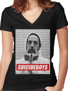 suicide boys Women's Fitted V-Neck T-Shirt